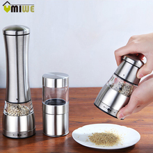 Pepper Mills Grinders Spice Mills Manual Grinders Stainless Steel Manual Salt And Pepper Mill Grinder Pepper Mills Pepper Muller(China)
