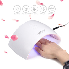 Modelones SUN9C 24W UV LED Lamp Nail Dryer for Nails Arched Shaped Nail Lamp for UV Gel Polish Tools Machine Nail Art Dryer