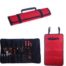 Tools not include ! 2 colors Hardware Kit Tool Roll Buckle Plier Screwdriver Spanner Carry Case Durable