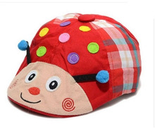 2016 Autumn Baby Ladybug Berets Hats Infants Fashion Beret Caps Kids Accessories Free Shipping