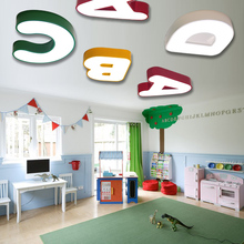 Faslin cute alphabet lamp Ceiling Lights Childrens room boy bedroom warm romantic nursery top lamp