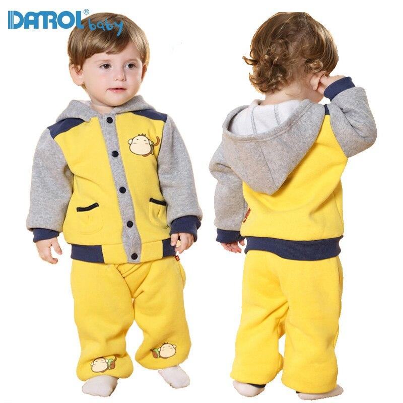 1T-5T Cotton Children Sets For Boy Full Sleeve Fleece Kids Sport Suit Girls Sports Suit Boys Clothes Children Clothing DT01<br>