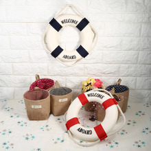 Hot Wall Hanging Life Preserver Ring Home Bar Decor Tavern Party Nautical Living Room Decoration