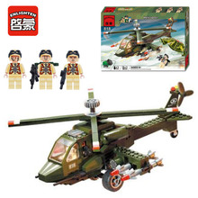 Enlighten 818 Modern Military Service Helicopter Combat Zones SWAT Model 275pcs Bricks Building Block Toys For Gift(China)