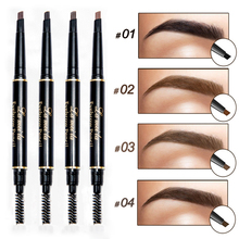 New Brand Eye Brow Tint Cosmetics Natural Long Lasting Paint Tattoo Eyebrow Waterproof Black Brown Eyebrow Pencil Makeup(China)