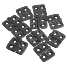 Mayitr 10PCS Black Mini Plastic Door Bearing Butt Hinges Cabinet Drawer Jewellery Box Hinge For Furniture Hardware
