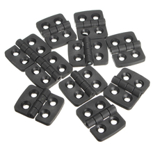 Mayitr 10PCS Black Mini Plastic Door Bearing Butt Hinges Cabinet Drawer Jewellery Box Hinge For Furniture Hardware(China)