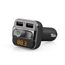 Sale Hot LCD Handsfree FM Transmitter Bluetooth Dual USB12V-24V Support TF Card U Disk Music MP3 USB Car Charger Accessories