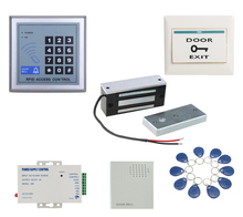 60kg 12v wooden gate Door Electric Magnetic Lock keypad RFID door access control system kit with 10 tags