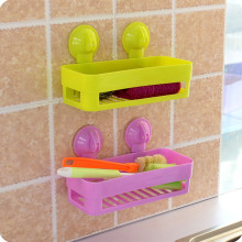 Bathroom Storage Cup Holder Shelf Shower Caddy Tool Organizer Rack Basket Sucker(China)