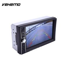 Vehemo HD 1080P 2Din 7 Inches Multimedia Player MP5 Player Hands-Free FM Premium Quality Car Kit Video Player(China)