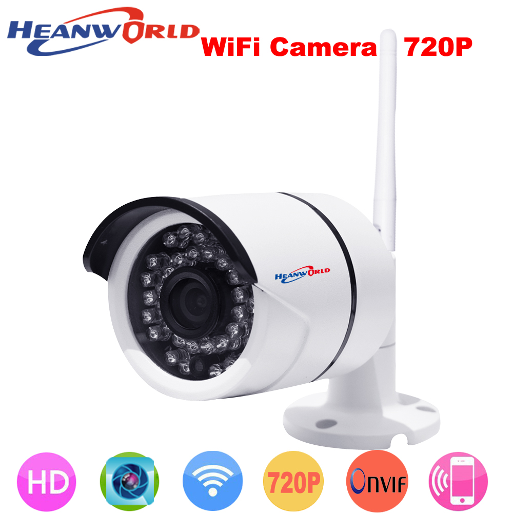 Wireless 1.0 Megapixel IP Camera wifi outdoor HD 720P Waterproof home security network ir video cam P2P  3.6mm lens<br>