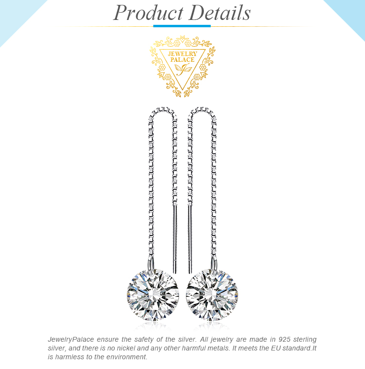 Stylish crystal earrings with long length