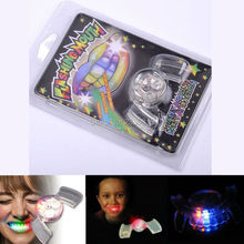 New Arrival Halloween Toy Flashing Teeth Glow Tooth Light Up Mouthpiece Braces LED Mouth Guard  Mouth Party Favors