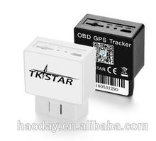 TK STAR Car OBD GPS Tracker TK816 , sms tracking on google map, APP and Android real time tracking with shock alarm
