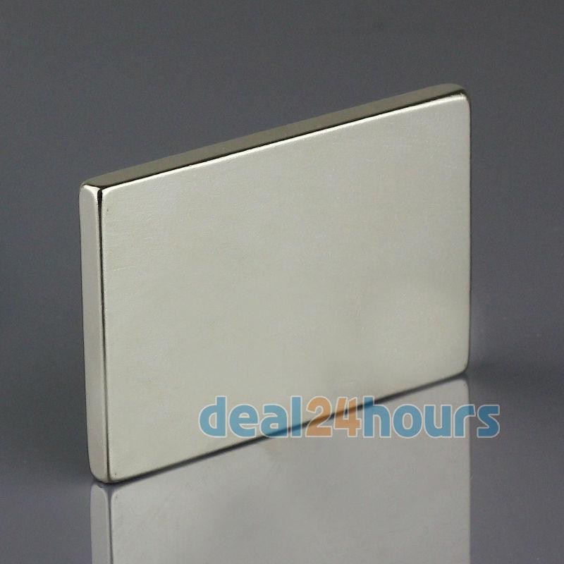 OMO Magnetics 5pcs Big Bulk Super Strong Strip Block Magnets Rare Earth Neodymium 60 x 40 x 5 mm N35 Wholesale<br>