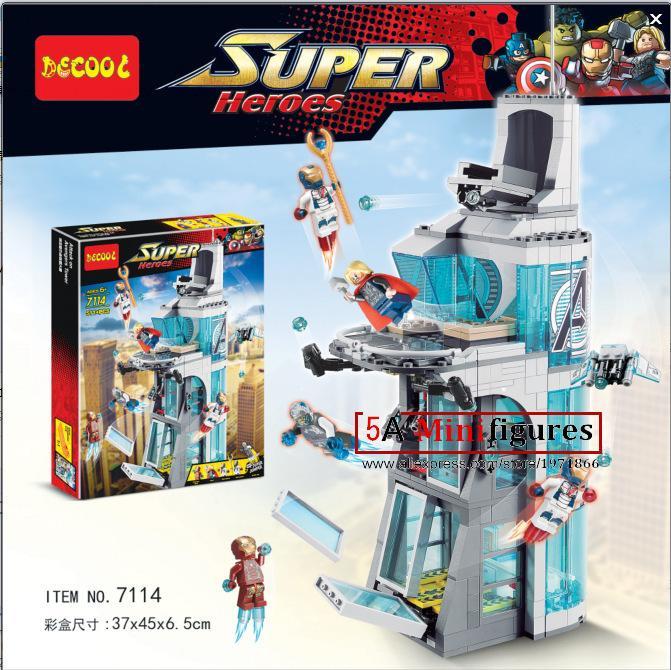 SY370  Marvel Superheroes Attack on Avengers Tower Building blocks assemblage bricks model IronMan Base<br><br>Aliexpress