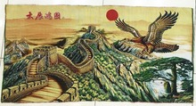 Free shipping gobelin tapestries,Chinese Great Wall with Eagle,Fashion decorative pictures, Reproduction of antique oil painting(China)