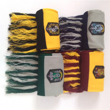 Child Boy Girl Scarves Harri Potter Cosplay Costume Series Cotton High Quality Scarves Cute Wraps Badge Personality Knit Scarves