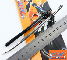SST* Anime ( Bleach ) Kurosaki Ichigo Aizen Sousuke Sword Scabbard Sheath Katana Boy Toys Keychain Metal Weapons Cosplay Gift +(China)