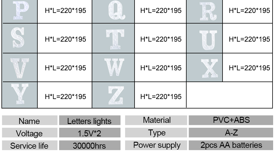LED Night Light 3D Letters (4)