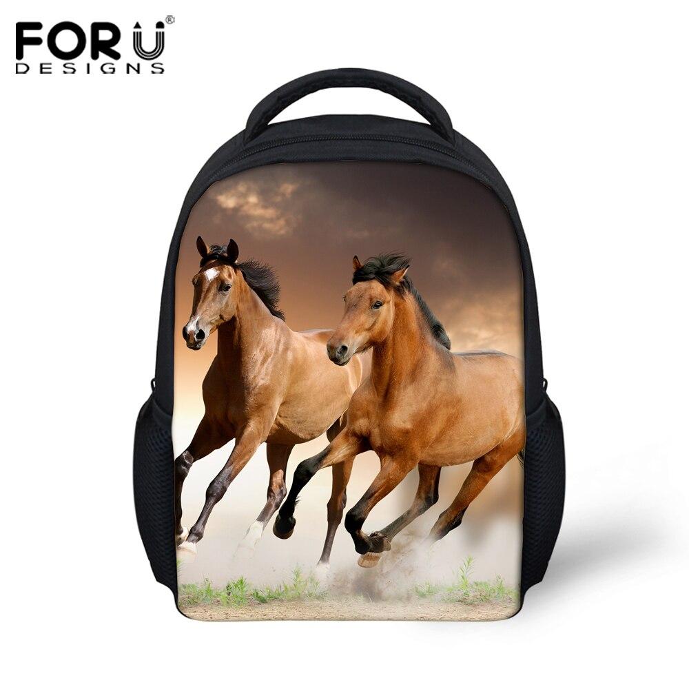 crazy horse printing backpacks for children girls shoulder bag kindergarten baby school bag animal backpack boys girls bagpack<br><br>Aliexpress