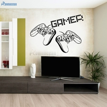 New Handheld Game Console Wall Stickers For Children Kids Boys Rooms Home Decoration Living Room Vinyl Wallpaper DIY Mural D593