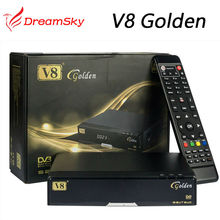 5pcs Original v8 golden+powervu IPTV box v8 golden dvb t2/s2/c upgraded V8 Pro Combo+1pc wifi Satellite Receiver(China)
