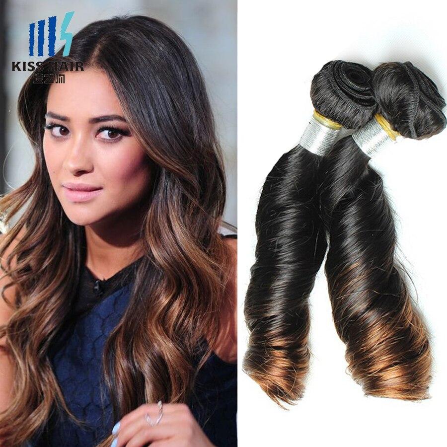 Ombre Brazilian Hair Loose Wave Virgin Hair 3 Bundles T 1b 30 Tissage Brazilian Virgin Hair Spring Curl Ombre Remy Human Hair<br><br>Aliexpress