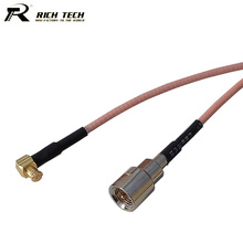 "RF Coaxial Cable Male FME Jack to 90 Degree MCX Male Connector RF Coax Pigtail Jumper Cable RG316 Customized 15cm 6""  Wholesale"