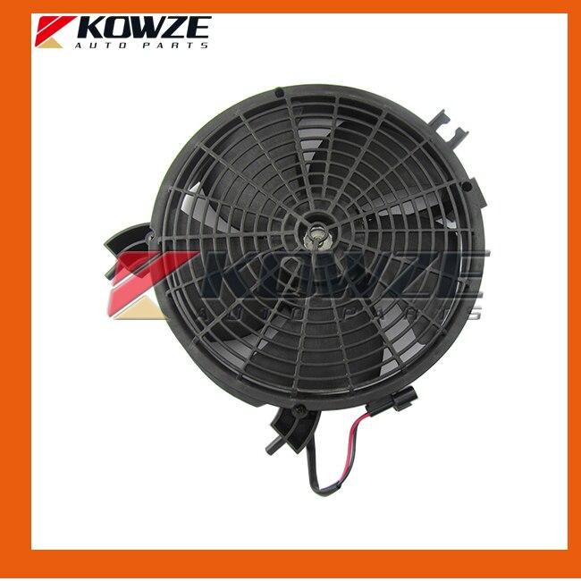 Air Condition Condenser Fan Motor &amp; Shroud for Mitsubishi Pajero Sport Montero Challenger Nativa Pickup Triton L200 MN123607<br><br>Aliexpress