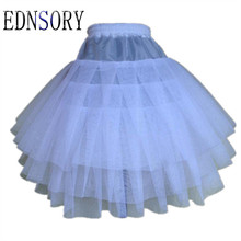 Hot Sale Petticoat Stock Three Layer Net White A-Line Flower Girl Dress Child Crinolines/Underskir Wedding Accessories