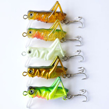 4cm 3g grasshopper locust insect Lure Hard Baits fishing tackle fishing baits single anchor hook(China)