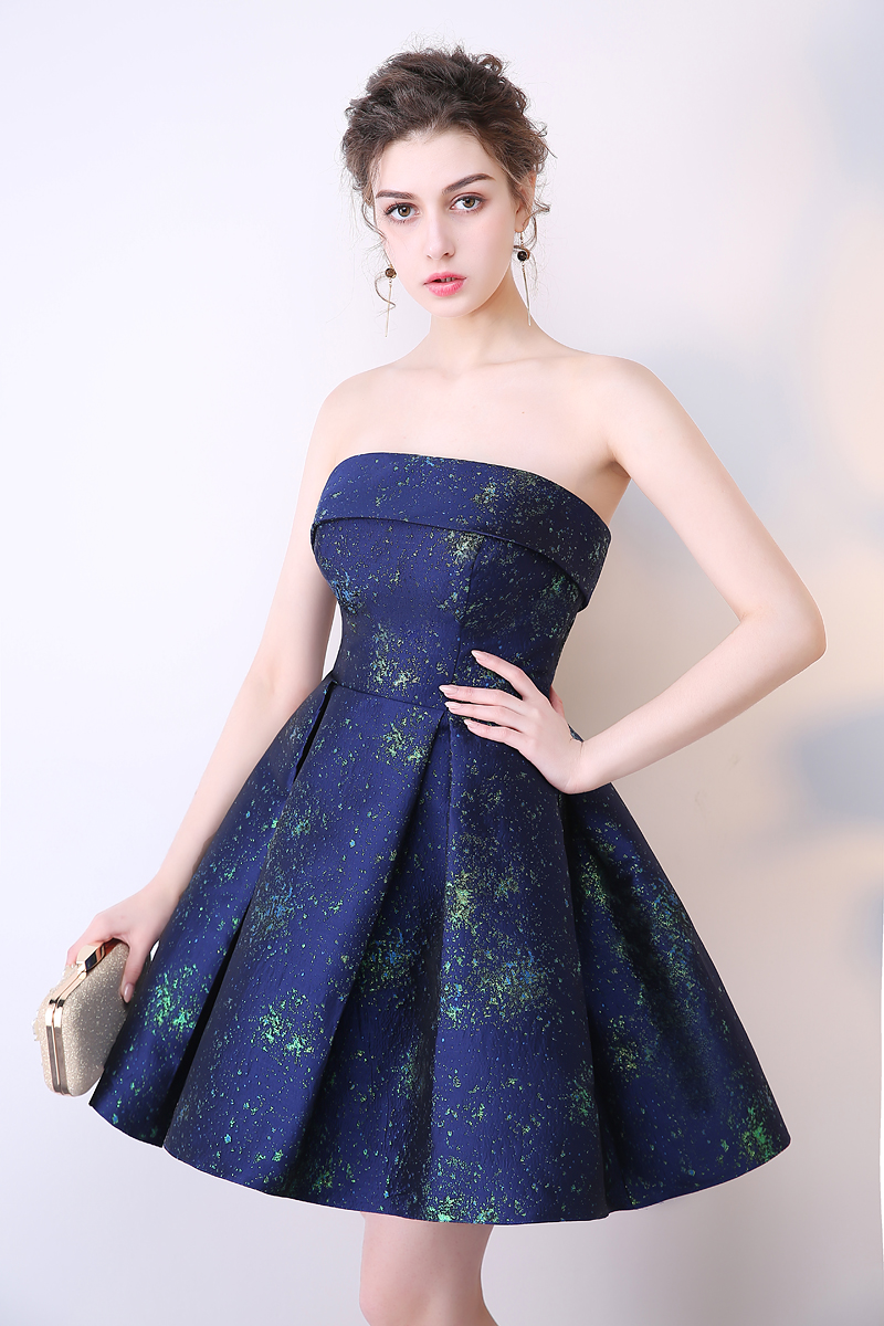 SOCCI Short Bridesmaide Dresses 2017 A-Line Real Photo Girls Homecoming Dress Sleeveless Blue Special Occasion Prom Party Gown 19