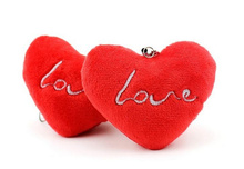 5PCS Super Sweet 7CM Love Heart Cute Wedding Plush Toy , Bouquet Gift Doll Toy , Stuffed String Gift TOY