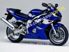 Hot Sales,Customized Fairing For Yamaha YZF R6 1998-2002 YZFR6 98 99 00 01 02 Blue White Motorcycle Fairing (Injection molding)(China)