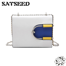 Female Bag 2017 New Color Small Bread European Style Fashion Chain Bump Personality Shoulder Bag