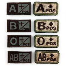 Practical 1Pcs Damask Fabric Military Tactics Blood Types Embroidered Sticker Hook Badges Medical Armband