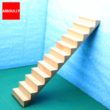 1:12 DIY Miniature Doll house Dollhouse Furniture Wooden Stairs Doll Furniture Accessories