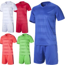 2017 New Arrival Men Team Soccer Short Jersey Set Blank Survetement Football Uniforms Kit Running Training Tracksuit Design XXXL(China)