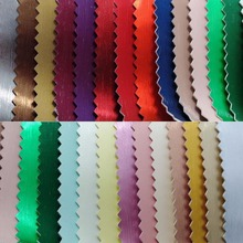 Metallic Steel Synthetic Leather Faux Leather Fabric PU Leather Fabric for Sofa handbags shoes and DIY P1579(China)