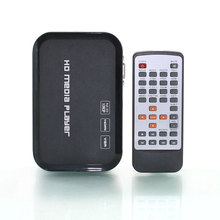 Free Shipping!3D 1080P HD Media player,support Blueray HDMI,VGA,AV,MKV,H.264  SD MMC USB external hdd media player