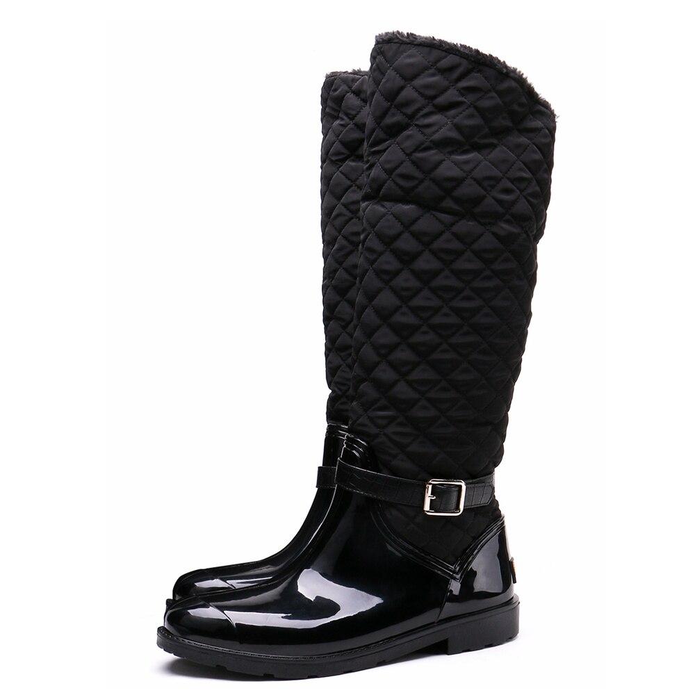TONGPU Womens Winter Rain Boots Sharon Knee-High Soft and Warm Waterproof 154-306<br>