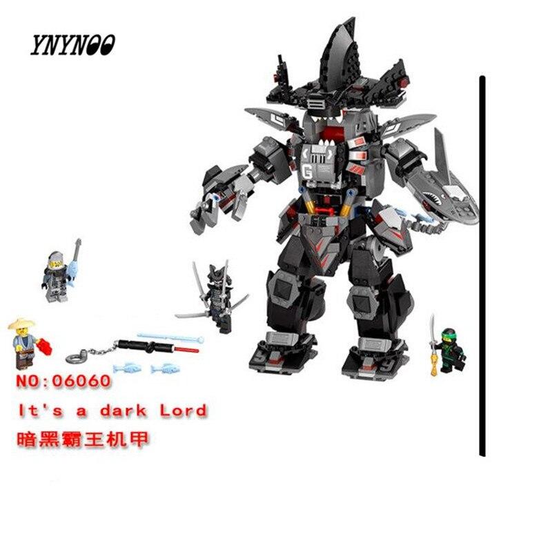 Garma Mecha Man Dark Devil Garmadon Lloyd 70613 Building Blocks Model Toys For Children Lepin 06060 Compatible Ninja Brick Set<br>