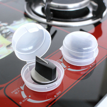 2 Pcs/lot Stove And Oven Knob Child's Safety Covers Clear Kitchen Gas Stove Locks(China)