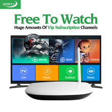 Europe Arabic IPTV Server Box French Turkish 1 Year QHDTV IPTV Subscription Italia Spain Channels Smart Android IPTV Set Top Box