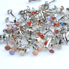Buy 100PCs Enamel Drip Round Diy Brads Scrapbooking Embellishment Fastener Brad Metal Crafts shoes Decoration 6.5x14mm CP1516 for $3.50 in AliExpress store