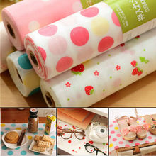 300X30CM Polka Dots Shelf Contact Paper Cabinet Drawer Liner Kitchen Table Mat(China)