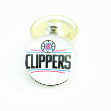 20pcs/lot American Los Angeles Clippers basketball team Logo snap button 18mm for Fashion snap button jewelry bracelet(China)