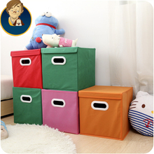 Large Capacity Clothes Pouch Storage Boxes Non-woven Fabrics Foldable Toy Box Underwear Storage Holder & Case Supply 4 Colors
